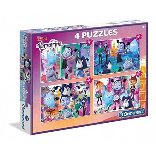 Castorland - Puzzle da 20 pezzi, 4 puzzle - Vampipirina