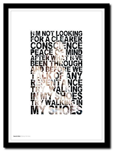 Poster mit Songtext Depeche Mode – Walking in My Shoes – A3 limitierte Auflage #25