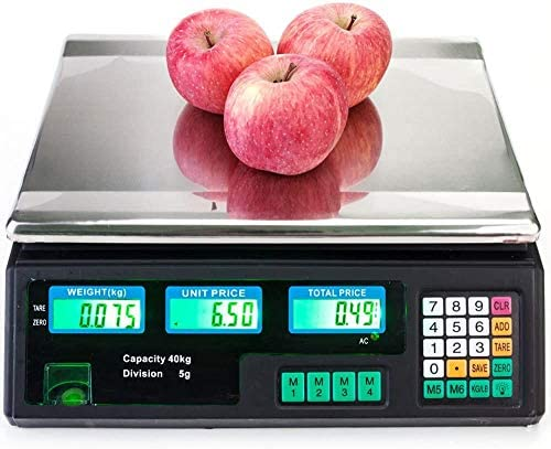 88Lb 40Kg Electronic Price Computing Scale Digital Deli Commercial Digital Scale Food Food Produce product image