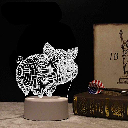 3D nachtlicht USB Dekoration kleines Geschenk tischlampe vibrierende schnelle Hand um Stern Netzwerk rot 3D Schwein Taste Schalter (DREI Farben)