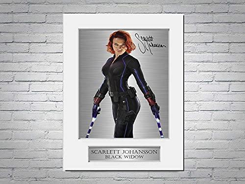 Scarlett Johansson Ondertekende Foto Display Mount A4 Black Widow Picture