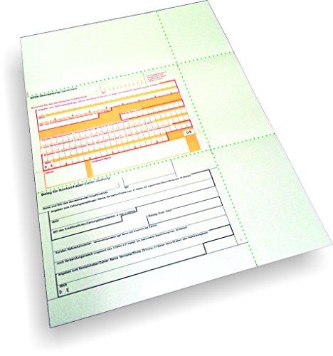 Überweisungsträger SEPA - Überweisungsträger mittig mit Beleg, 100 Blatt, DIN A4, 90 g/qm OCR-Beleglesepapier