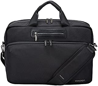 Cocoon BUENA VISTA Case for Laptop  Tablet 16  Shoulder Bag with Organizing System Compact Travel Bag Black inches