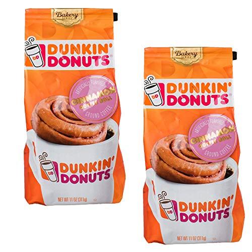 Dunkin' Donuts Bäckerei-Serie Zimtkaffee Rolle aromatisiert gemahlene Kaffee - (Pro Beutel 2 Packung) - Amerikanischen Imported Geröstete Kaffee, 311 g (11 oz. Cinnamon Roll Ground Coffee)