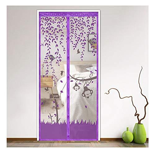 Mosquitera Puerta Magnetica - Cortina Mosquiteras Puertas con Iman Varios Patrones y Tamaños para Salón, Balcón, Corredor
