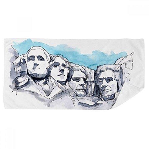 DIYthinker Americana Toalla Rushmore National Memorial baño Suave paño de Facecloth 35X70Cm