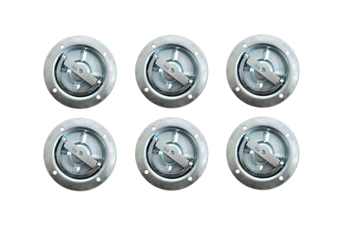 Memphis Mall New mail order 6 - Recessed Full 360 Swivel 6000# D Ring Rated Tiie Downn Rope