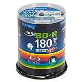 三菱ケミカルメディア Verbatim 録画用BD-R 100枚 1-6倍速 VBR130RP100SV4
