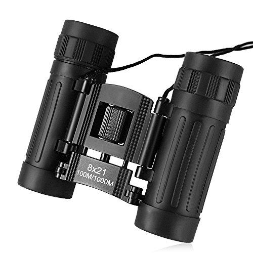 Perfectii verrekijker, 8x21 lichtgewicht mini Binocular waterdichte veldsteker volledig gecoate lens voor vogels kijken, jacht, reizen, sightseeing, klimmen, reizen, outdoor