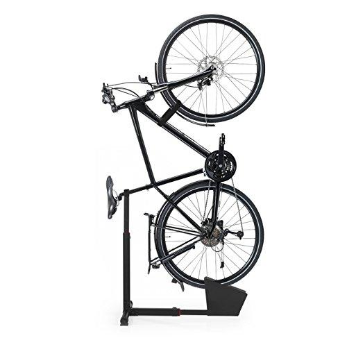 Cavalletto posteriore EASYmaxx Cavalletto per biciclette per appartamento e cantina in acciaio Nero, Ca. 45/70 x 55/80 x 43 cm