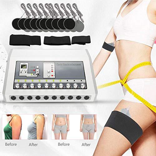 Massaggiatore elettronico impulsi stimolatore muscolare terapeutico microcurrent lifting del Viso modellamento del corpo sottile yono della pelle Tens Unit Macchina per la riduzione del grasso(EU)
