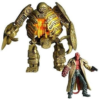 Hellboy Mezco Toyz 2009 SDCC San Diego Comic-Con Exclusive 3 3/4 Action Figure Set and Golden Army Soldier