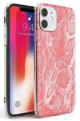 Case Warehouse En Colores Pastel de Piel de Serpiente - Rosa Slim Funda para iPhone 11 TPU Protector Ligero Phone Protectora con Animal Tendencias Caimán Patrón