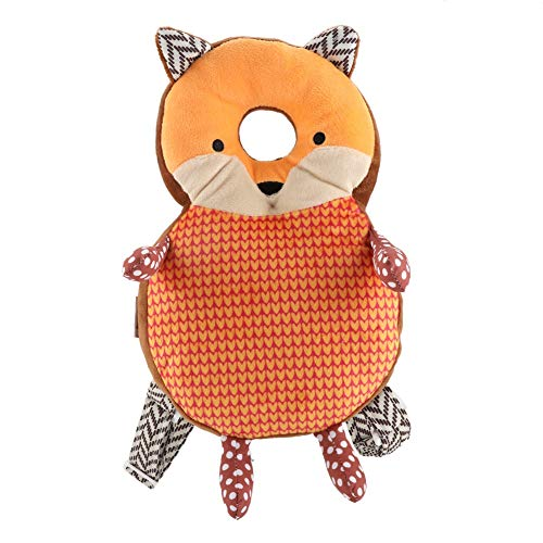 Toddler Head Protector Adjustable Infant Safety Pads Cute Cartoon Head Protection Pillow Elastic Comfortable Shoulder Back Learn Walking Protective Cushion for Baby Walkers Protective (Orange Fox)