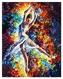 Pintura por números para Adultos Principiante -Paint por números para niños Edades 8-12 - Paint por números Personalizado - Enternanza Creativa Relajarse Lienzo Painting- Ballet Female Actor.