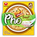NongShim Bowl Rice Noodle Soup, Vietnamese Beef Pho, 2.18 Ounce (Pack of 6)