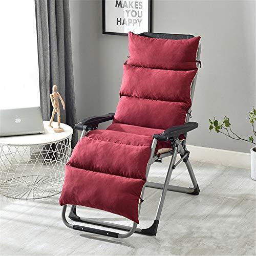 Cojín suave para silla, para interiores y exteriores, para sillas, sillas, sillas, sillas, cojines de repuesto de temporada, cojines para muebles de patio para el hogar, poliéster, Rojo, 175 cm