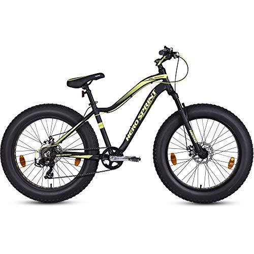 Hero Sprint Pro Big Daddy 24T 7-Speed Bicycle (Black/Yellow)