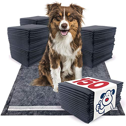 ValuePad New Plus Carbon Puppy Pads, Large 28x30 Inch, 150 Count - Premium Pee Pads for Dogs, Activated Charcoal Odor Control, Super Absorbent Polymer Gel Core, 5-Layer Design