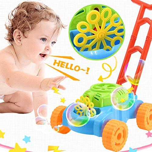 Seifenblasenmaschine Rasenmäher,Automatische Bubble Making Machine,Bubble Rasenmäher Kinder,Seifenblasen Spielzeug für Kinder,Seifenblasen Outdoor Active