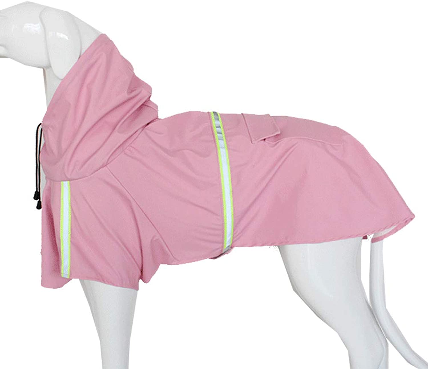 Dog Raincoat Waterproof Reflective Pet Clothes,Pink,4XL