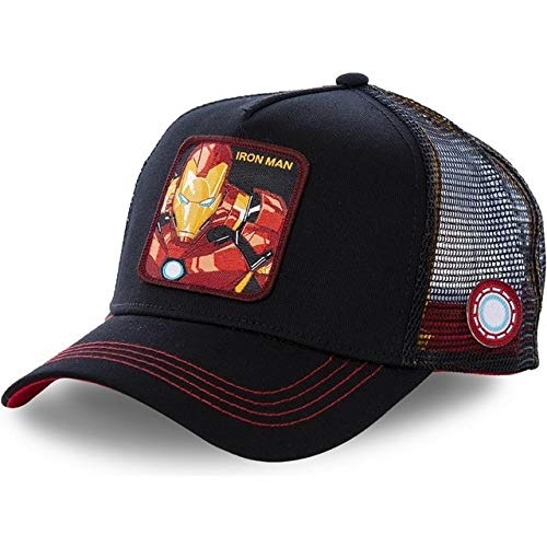 cap cotton baseball cap men and women hip hop dad mesh cap truck driver Snapback-IRON MAN