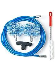 BARETTO Kit de limpieza para estufa de pellet - Curva máxima de 90 ° - 2 cepillos de nailon estándar (1 de 80 mm y 1 de 100mm)