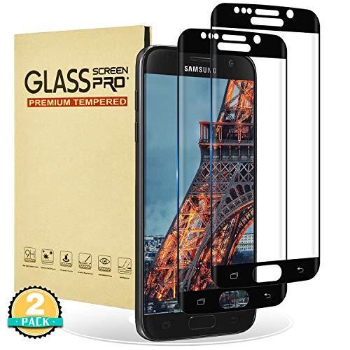 RIIMUHIR Samsung Galaxy S6 Edge Panzerglas Folie [2 Stück] Samsung Galaxy S6 Edge schutzfolie [Vollbildabdeckung] 3D-Touch Anti-Kratzen Anti-Fingerabdrücke HD-Displayschutz für Samsung S6 Edge