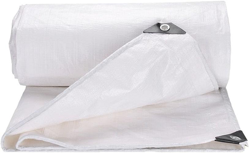 Baches Camion de bache imperméable à la poussière imperméable housse de tente en tissu pour camping et extérieur, options multi-tailles (blanc) Couverture de piscine (taille   8MX12M)