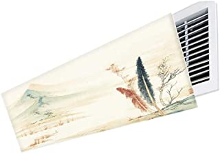 Deflector de Aire Acondicionado para Aire Acondicionado Central en el Techo, bafles de Aire Acondicionado con Dibujos Animados, luz Segura y fácil de almacenar (Color : Style 1, Size : 110cm)