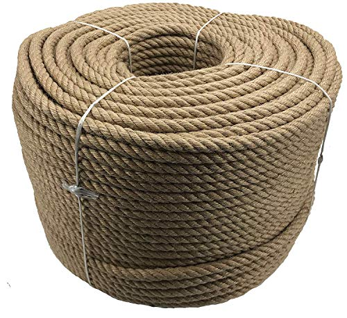 Handrail Rope, Cordoning Rope, Handrail Rope Natural Jute (40 MM) Colour Natural by Gepotex