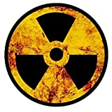 Radioactive Nuclear Radiation Rustic Symbol Sticker Laptop Bumper Decal