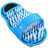 Massager Slippers To Clean Feet, Feet Cleaner for Shower, Easy Cleaning Brush, Remove Dead Skin & Calluses, Exfoliating Foot Slippers(Blue)