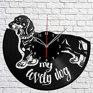 Dachshund Dog Vinyl Record Wall Clock Fan Art Decor Unique Decorative Vinyl Clock 12