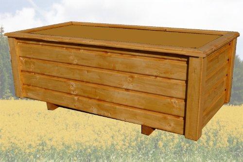 SchwibboLa Pflanzkasten Hochwertiger ClassiV lasiert Teak Außenmaße 120 x 50 x 40 cm Blumenkasten Hochbeet Pflanztrog Nr. PK-494-A7, Holz