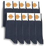 GSOTTA Calcetines premium 10 paquetes, calcetines de negocios para mujeres y hombres, unisex, calcetines de algodón, calcetines de trabajo con una pretina suave, en azul, talla 39-42