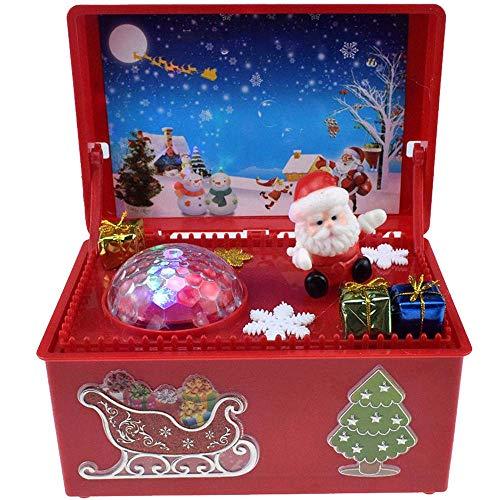BIOBEY Carillon,Elettrico Natale Babbo Natale DIY Carillon con 7 luci Colorate Carillon di Babbo...