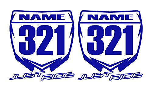 Just Ride Motocross Number Plate Replica Decal Stickers YZ
