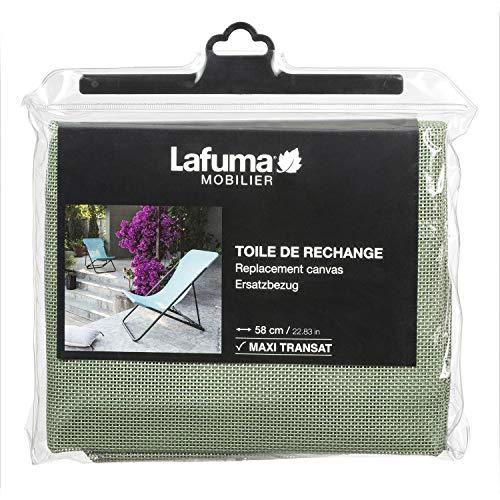 Lafuma Tessuto Batyline per sedia a sdraio Maxi Transat, Larghezza: 58 cm, Colore: Muschio, LFM2655-8557
