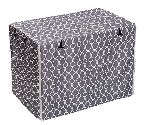 Morezi Funda para jaula de perro, ajuste universal para jaulas de alambre, poliéster duradero, resistente al viento, protección para interiores y exteriores, color gris, tamaño mediano
