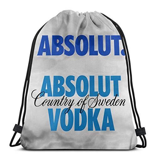 HFXY Absolut-vodka Drawstring Bag Sport Gym Sack Shopping Travel Mochila de hombro...