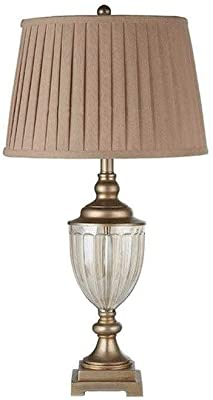 Hammer Table Lamp-retro Table Lamp, Crystal Lamp Body Fabric Lampshade, Nostalgic Button Switch, Living Room Family Bedroom Study Bedside Lamp Crystal Table Lamp