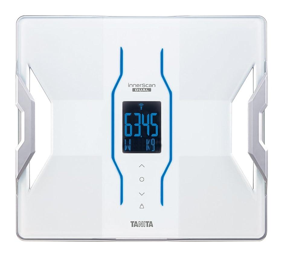 差別化するゼリーラジエータータニタ 体組成計 インナースキャンデュアル RD-901-WH(ホワイト) iPhoneアプリで健康管理/最小表示50g
