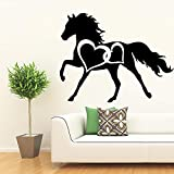 New Horse Fototapete Removable Wall Decal Removable Vinyl Fototapete Art Decals Grau L 43cm X 54cm