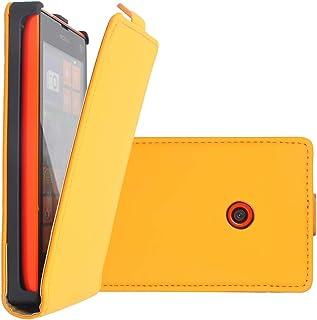 COOVY® Skal till Nokia Lumia 520/521 / 525 smal flip fodral, hölje skyddsskal + skärmskydd   färg ljusskärm