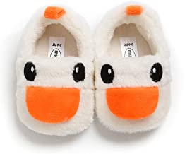 Infant Girls Boys Soft Plush House Slippers Toddler Cozy Warm Cartoon Duck Winter Indoor Bedroom Shoes
