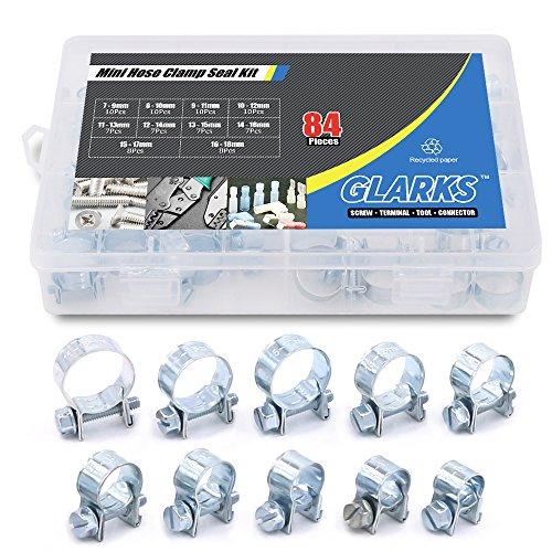 Glarks 84Pcs 10 Size Mini Fuel Injection Style...