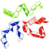 Fidget Snake Cube Twist Puzzle Magic Snake Sensory Toys Collection Brain Teaser Party Favors Game Goodie Bags Fillers for Kids Adults Teens, 3.25' x 2.25'