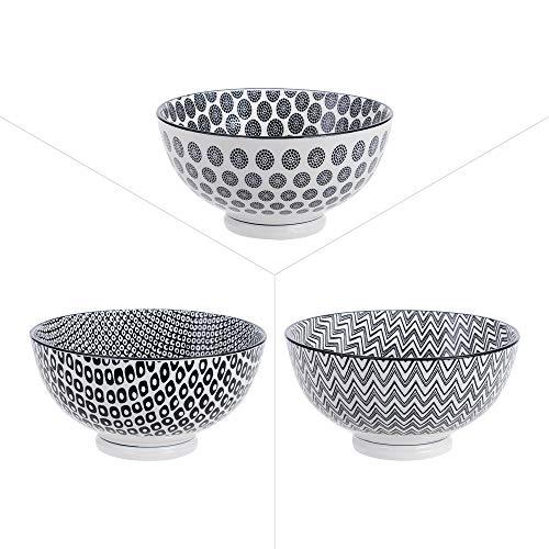 Table Passion - Bol 15cm kuro porcelaine (lot de 3)