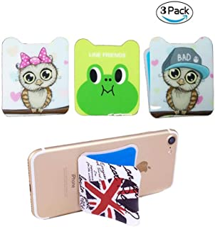 Tumecos Hands Free Anti-Gravity Selfie Phone Sticker | Magical Nano Suction Stick to Wall, Mirror, Glass, Tile Most Smooth Flat Surface Pack of 3 Group-2